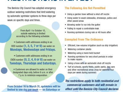 Benicia Ordinance Flyer 2015